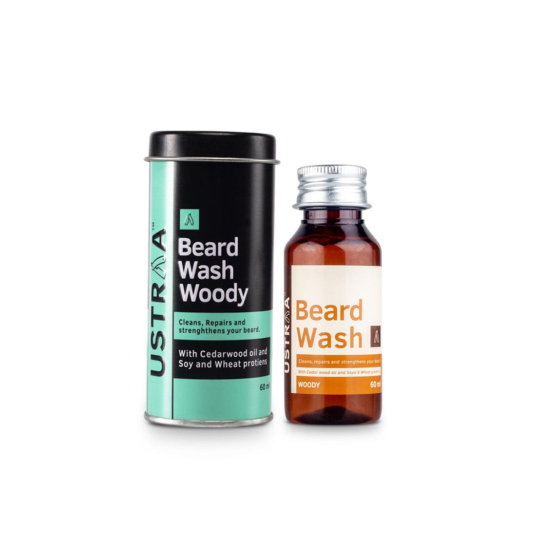 Ustraa | Beard Wash Woody 60ml