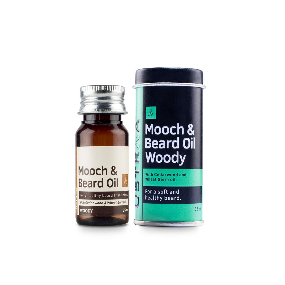 Ustraa | Mooch and Beard Oil Woody 35ml