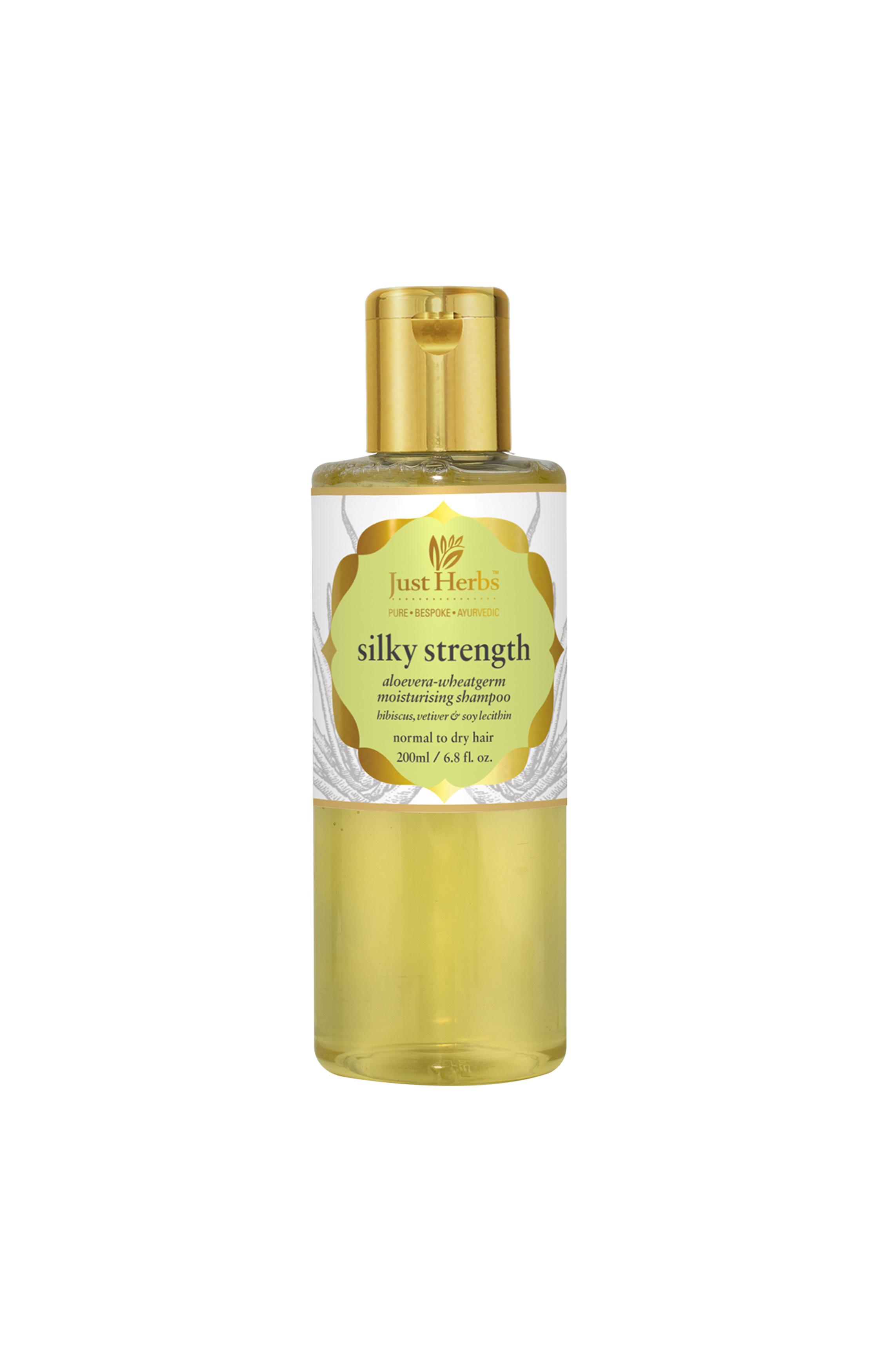 Just Herbs   Silky Strength Aloevera-Wheatgerm Moisturising Shampoo