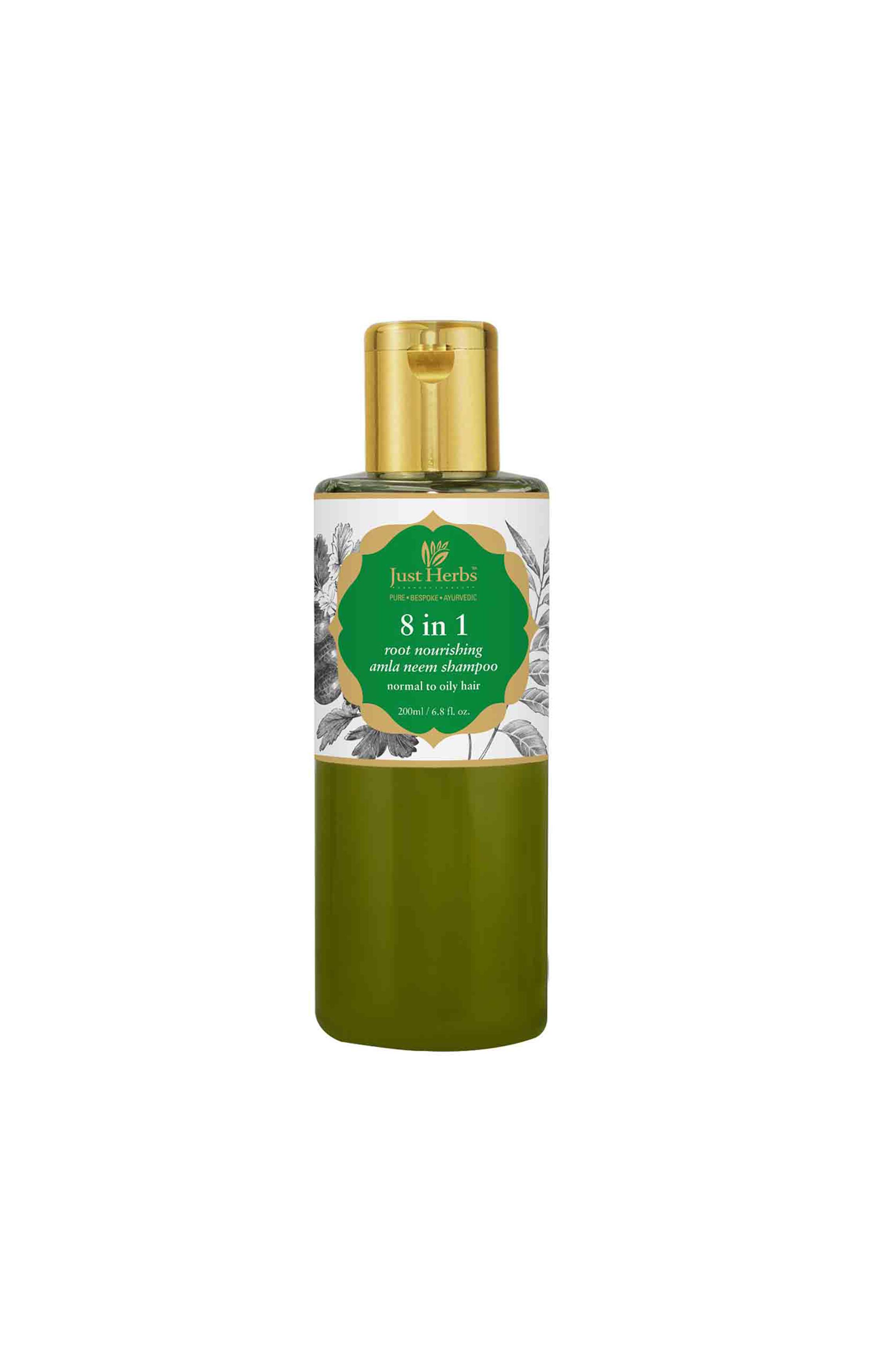 Just Herbs | 8 In 1 Root Nourishing Amla Neem Shampoo