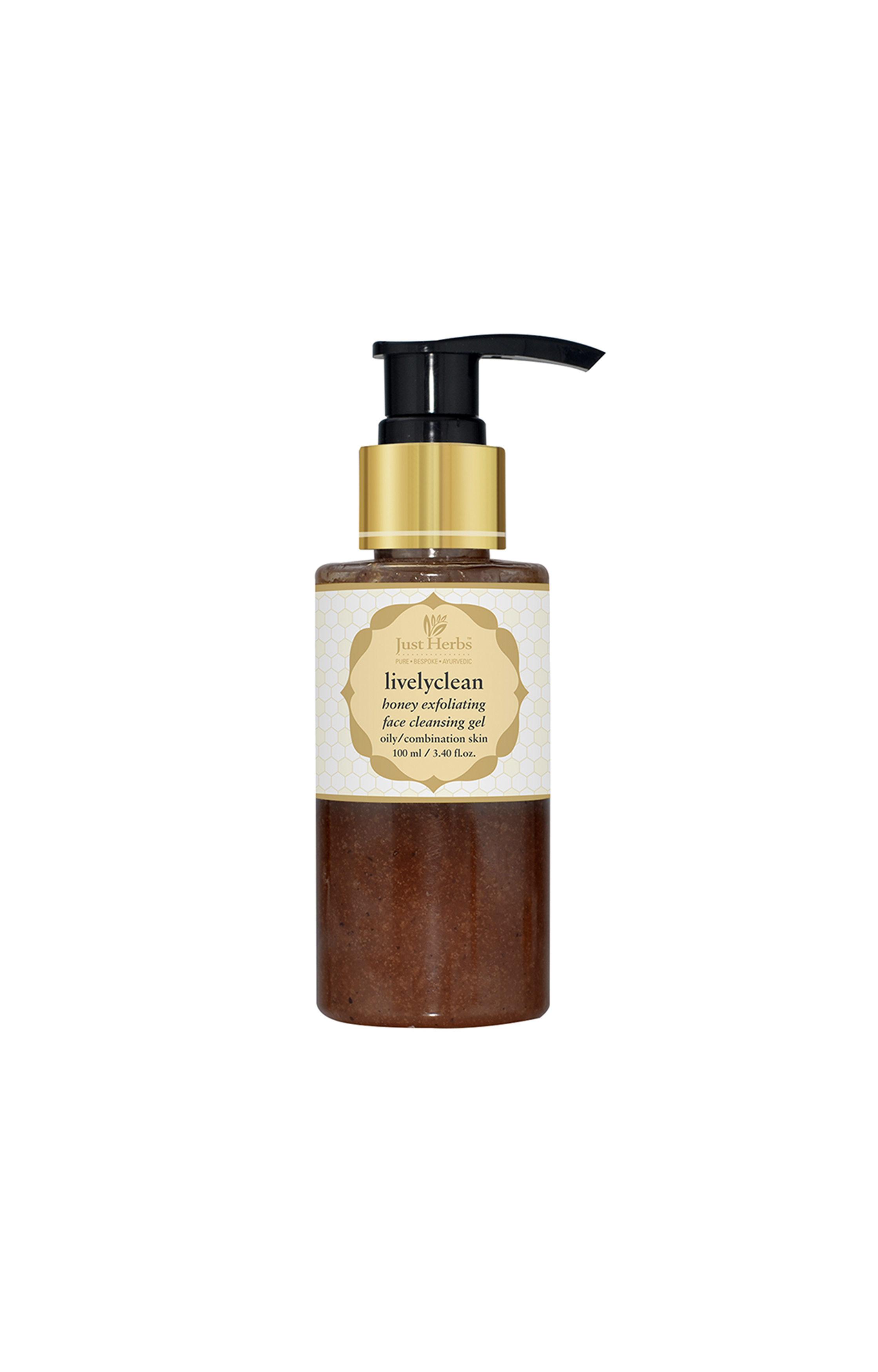 Just Herbs | Livelyclean Honey Exfoliating Face Cleansing Gel