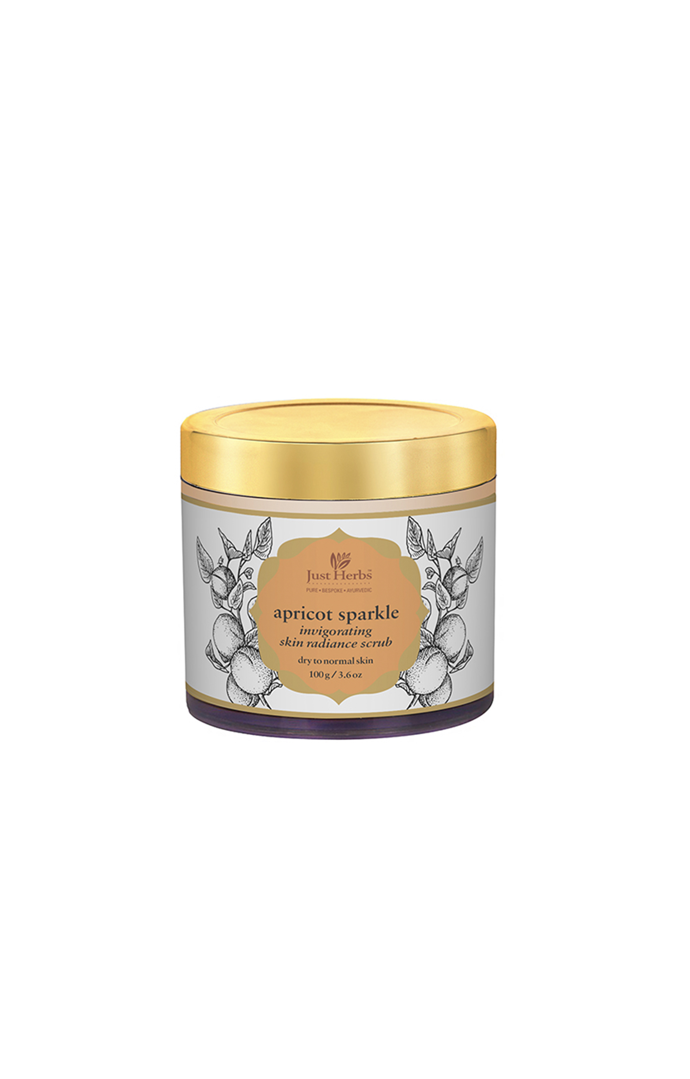 Just Herbs   Apricot Sparkle Invigorating Skin Radiance Scrub