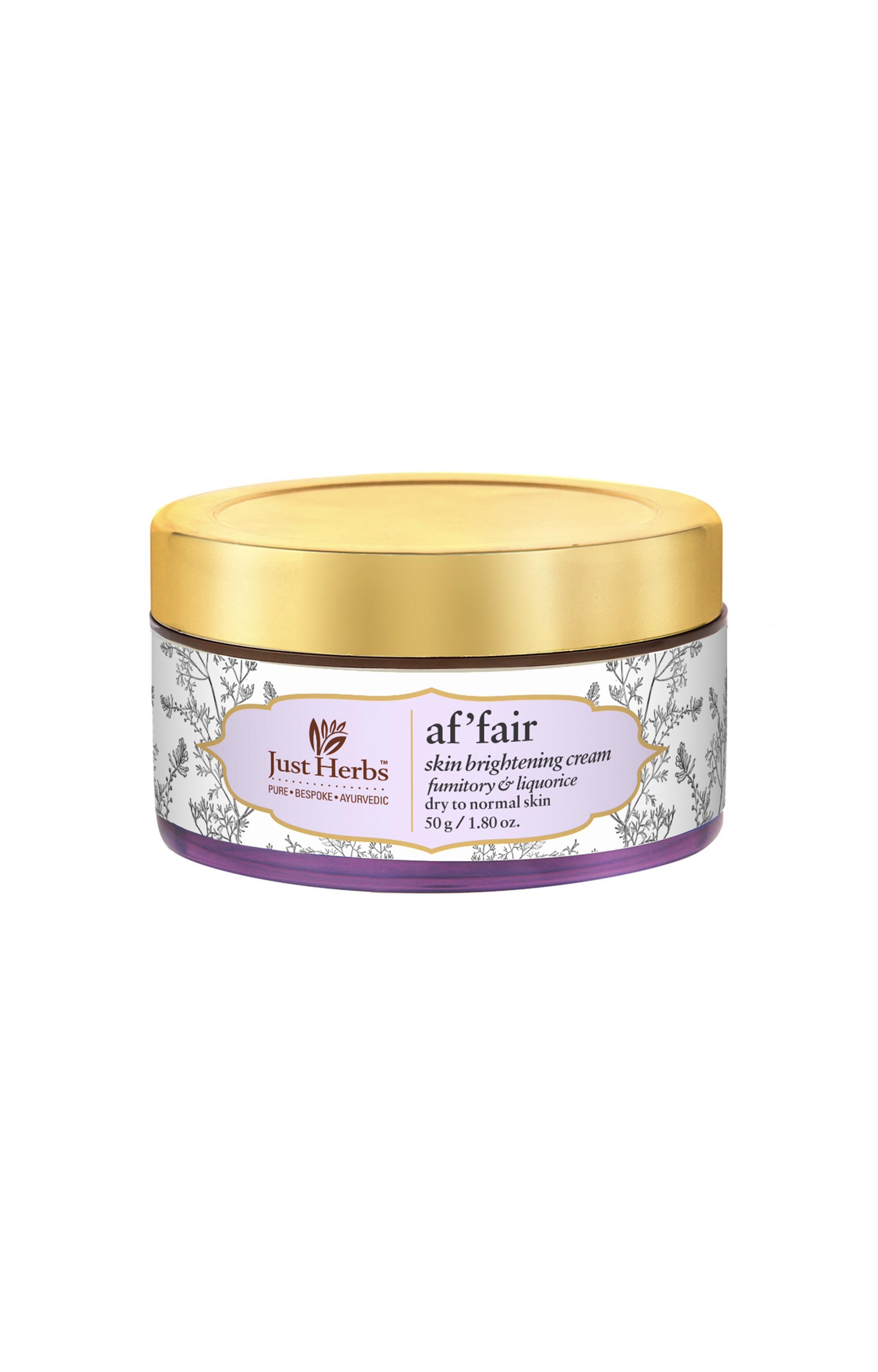 Just Herbs | Af'fair Fumitory-Liquorice Skin Brightening Cream
