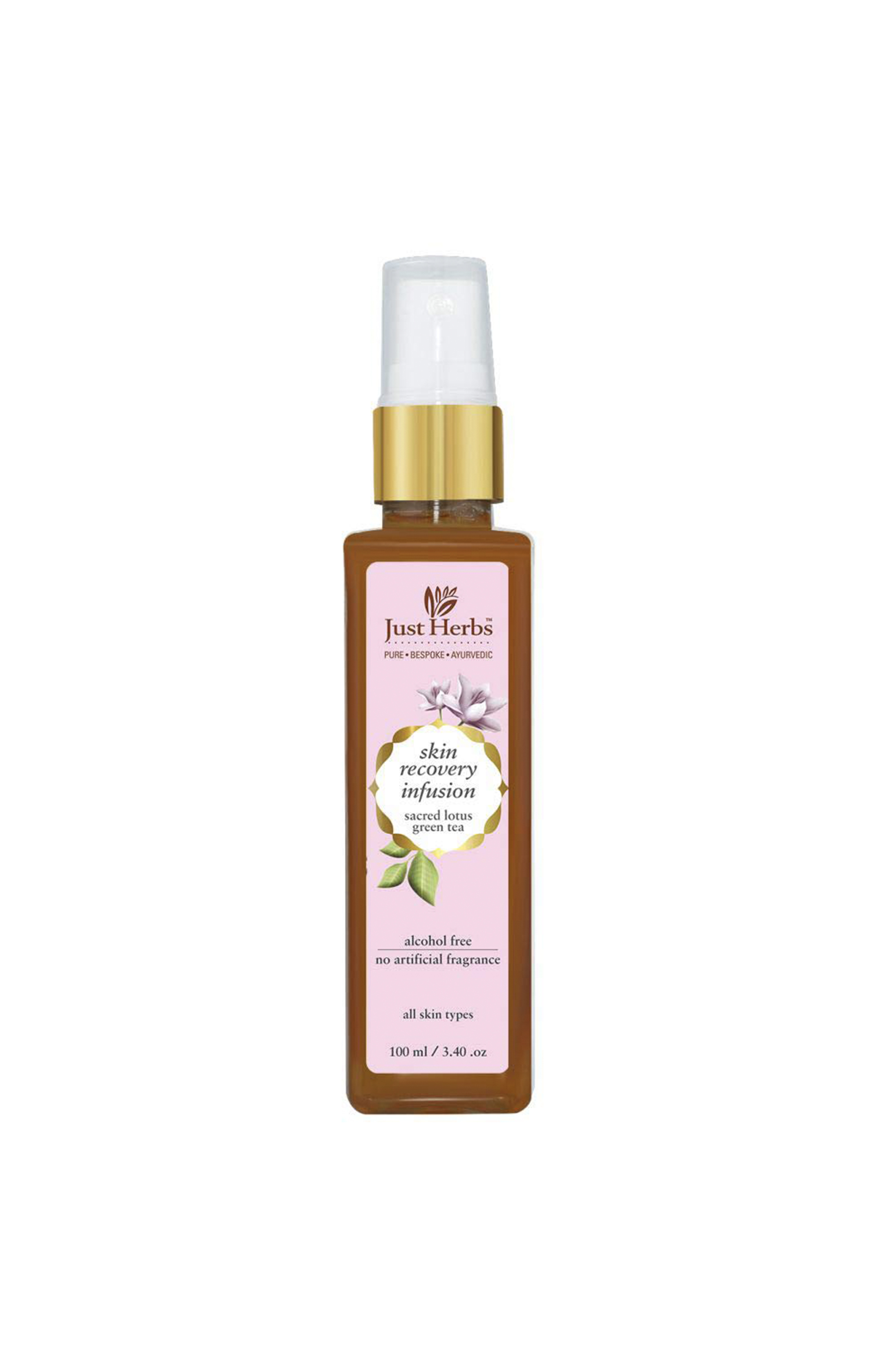 Just Herbs | Sacred Lotus - Green Tea Skin Recovery Toner