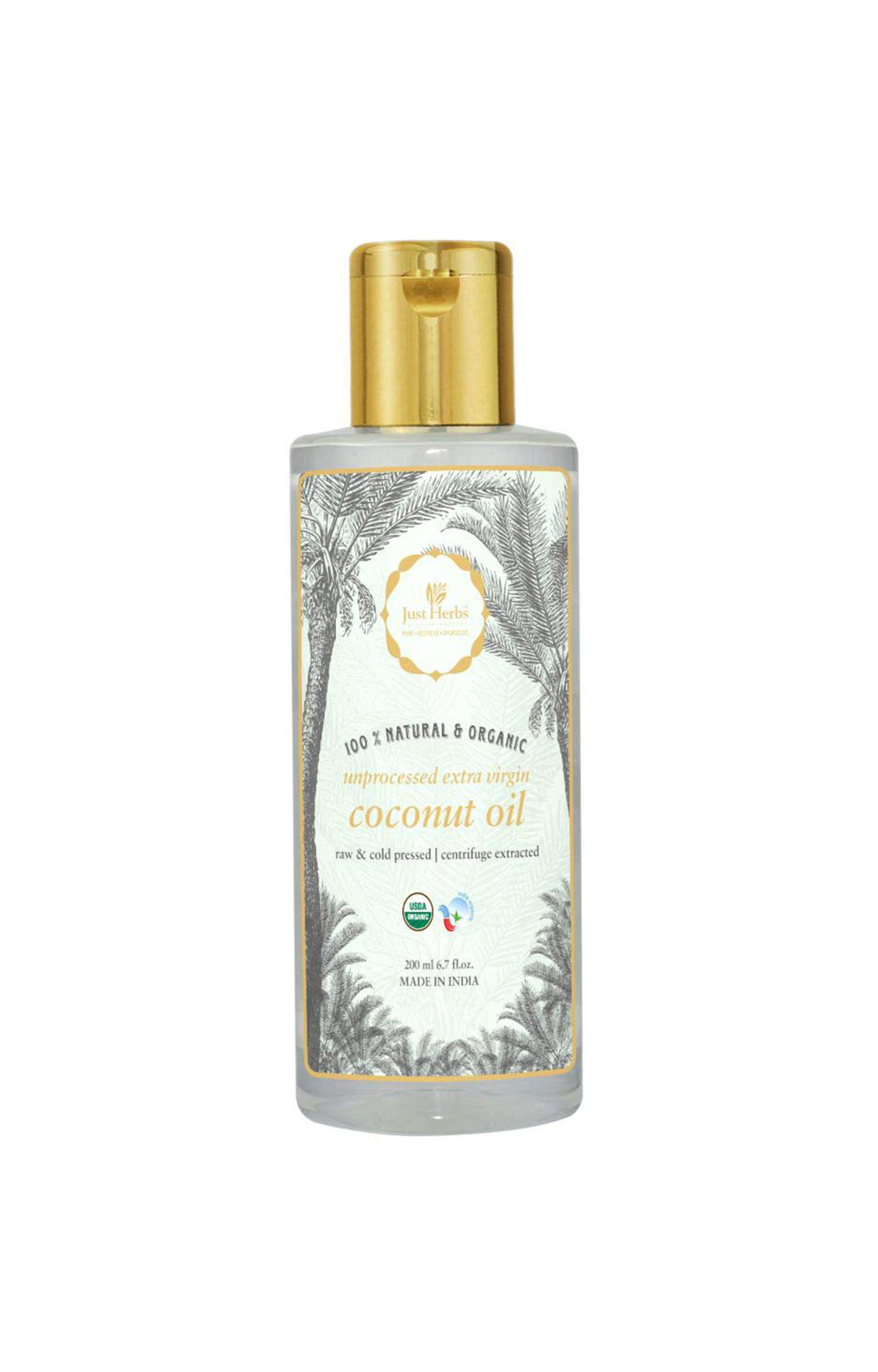 Just Herbs | Extra Virgin Coconut Oil: Unprocessed & Certified Organic