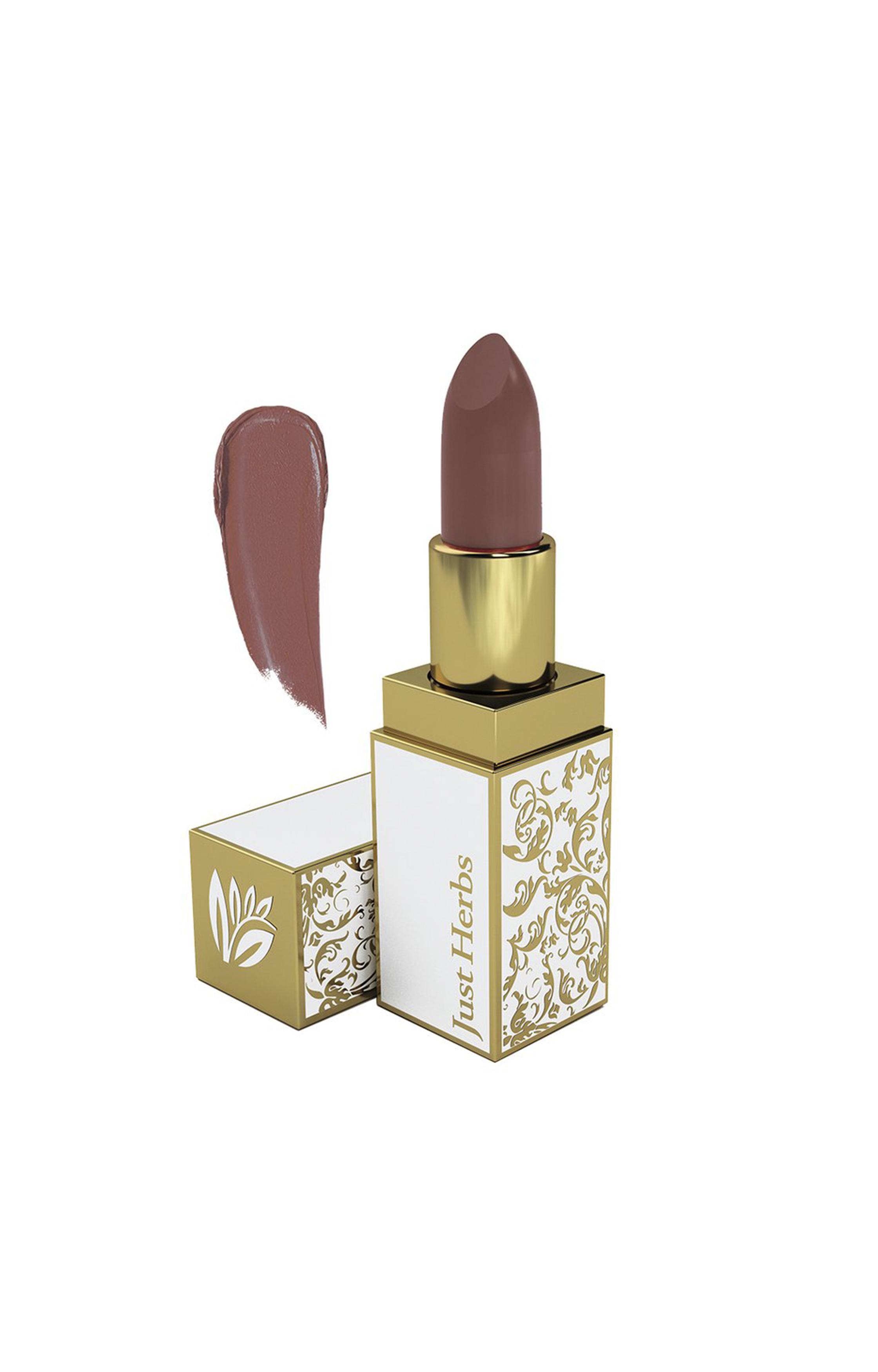 Just Herbs | Just Herbs Herb Enriched Ayurvedic Lipstick (Mauvish Brown, Shade no. 7)