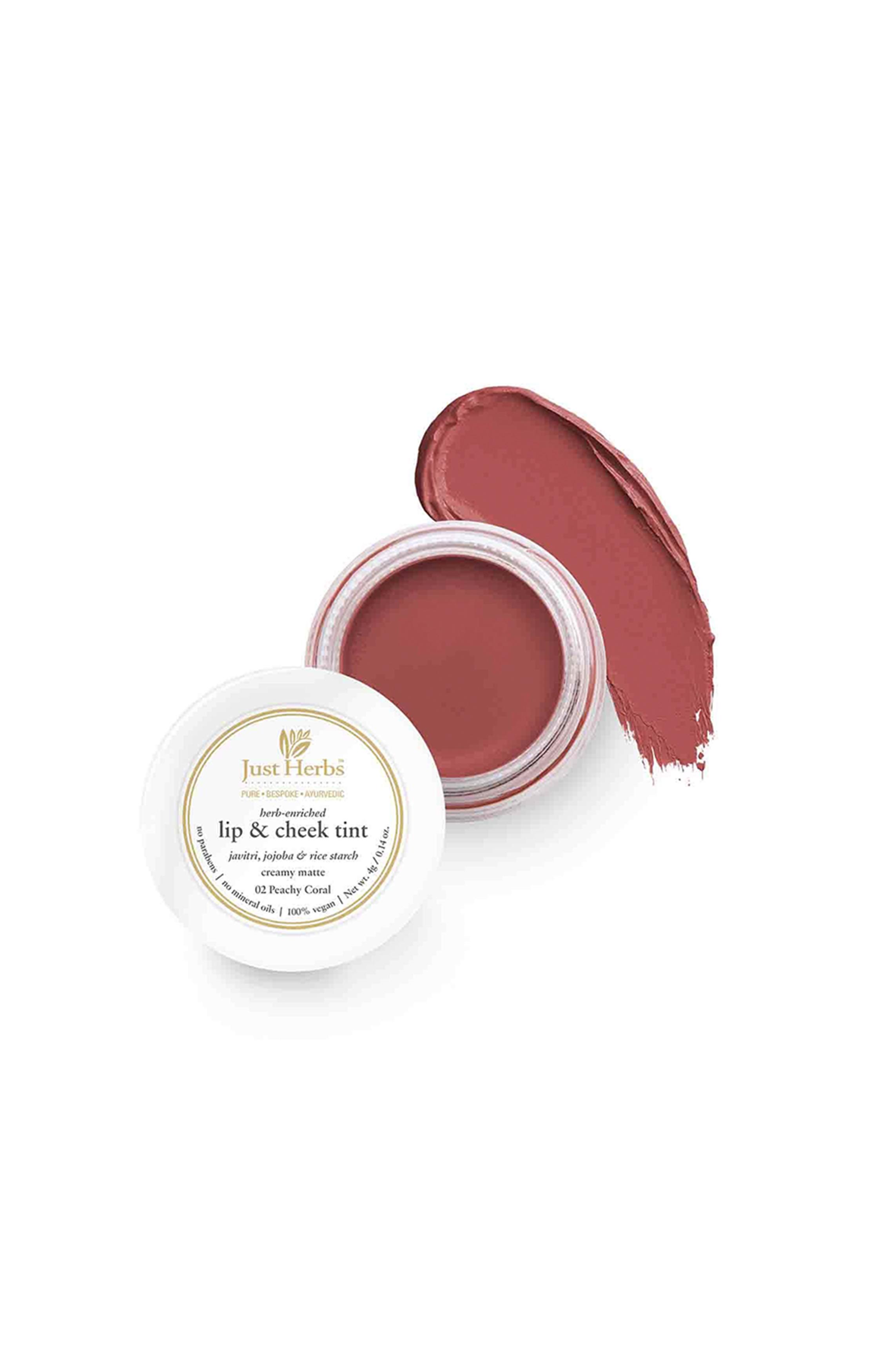Just Herbs | Just Herbs Lip and Cheek Tint -02 Peachy coral