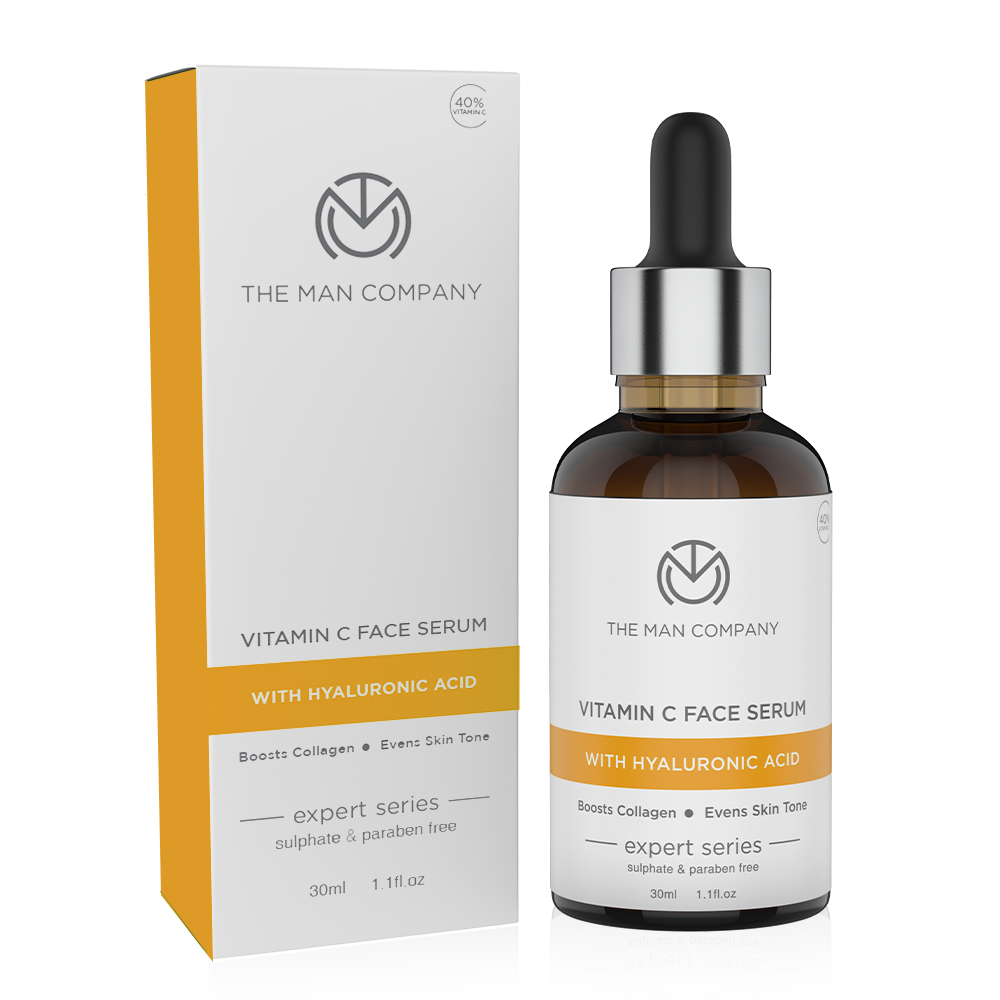 The Man Company | The Man Company 40% Vitamin C Face with Hyaluronic Acid for Brightening and AntiAging
