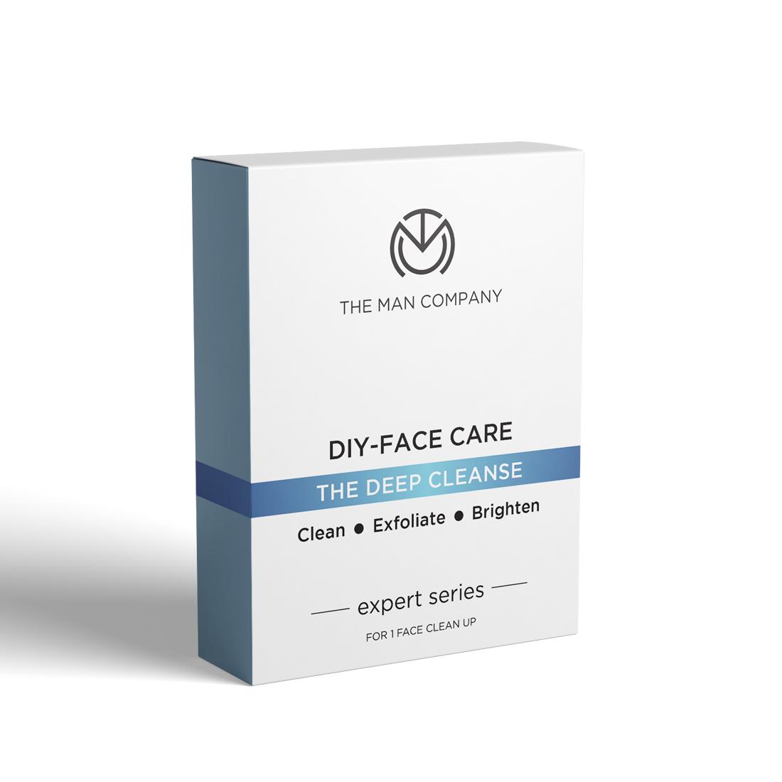 The Man Company | The Man Company DIY- Face Care Deep Cleanse (moisturising cream 2.5 g, cleansing gel 5gm, scrub 5 gm, peel off mask 15 gm, brightening cream 2.5 g)