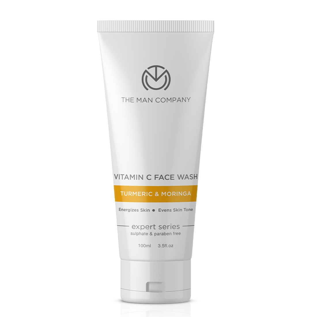 The Man Company | The Man Company Vitamin C for Turmeric and Moringa for Skin Brightening and Anti Ageing - No Paraben, Sulphate, Silicones, Color - 100ml Face Wash