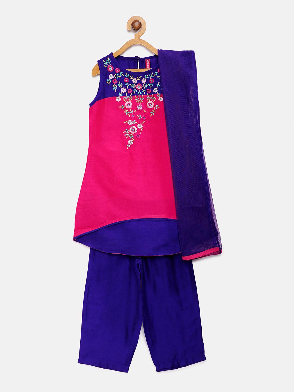 Ethnicity | Ethnicity Fuchsia Polyester Kids Girls Skd
