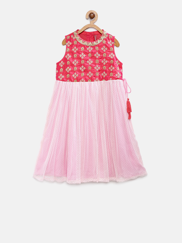 Ethnicity | Ethnicity Pink Polyester Blend Kids Girls Dress
