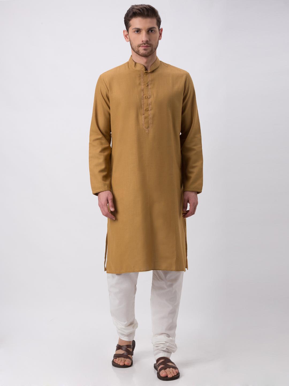 Ethnicity   Ethnicity Khakhi Polyester Blend Kp Set