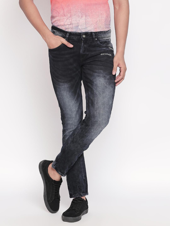 Spykar   Spykar Black Solid Slim Fit Jeans