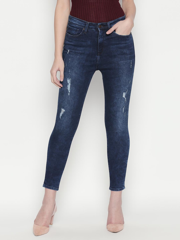 Spykar | Spykar Blue Ripped Slim Fit Jeans