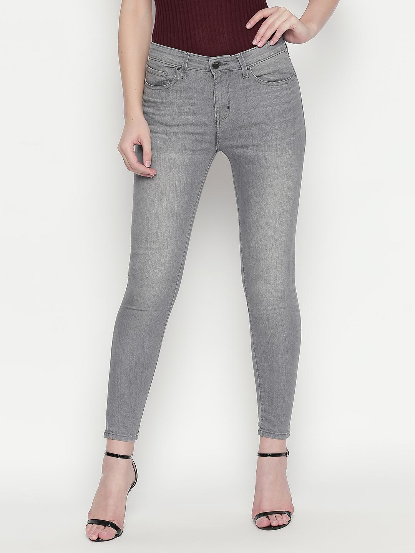 Spykar | Spykar Grey Solid Slim Fit Jeans