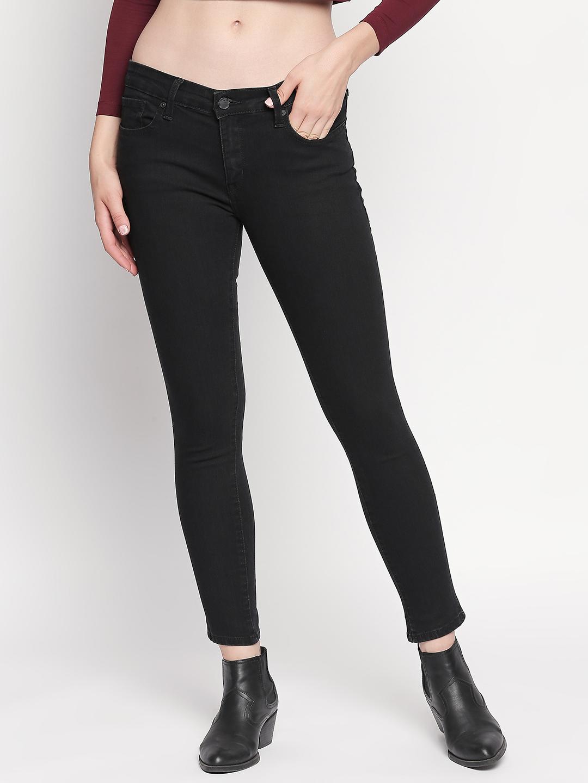 Spykar   Spykar Black Solid Skinny Fit Jeans