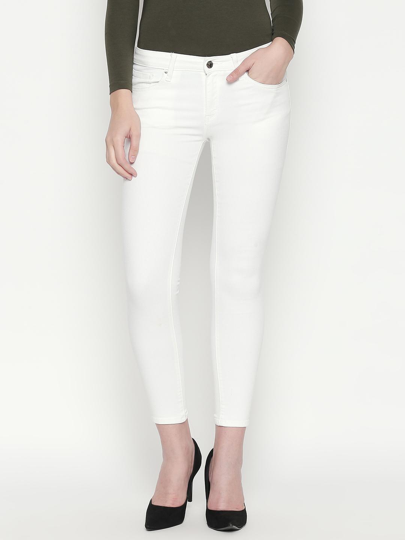 Spykar | Spykar White Solid Slim Fit Jeans