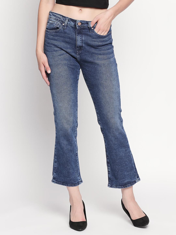 Spykar | Spykar Mid Blue Solid Bootcut Jeans