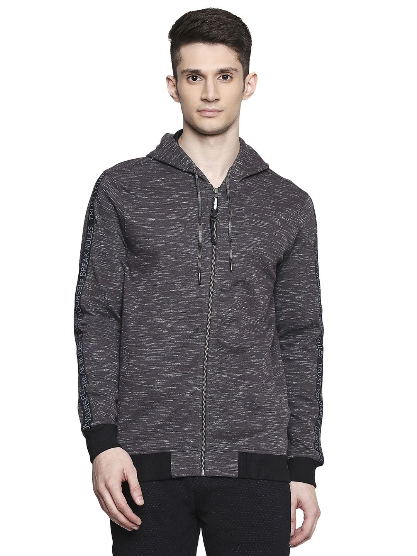 Spykar | spykar Cotton Blend Black Sweatshirt
