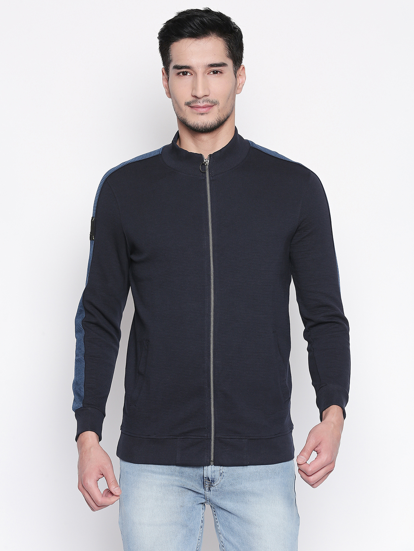 Spykar | spykar Navy Solid Slim Fit Sweatshirt