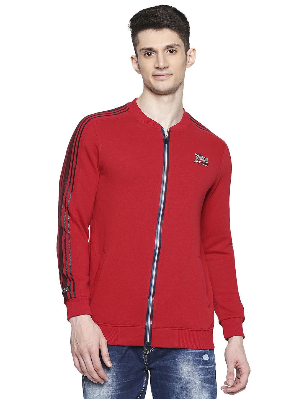 Spykar | spykar Cotton Blend Red Sweatshirt
