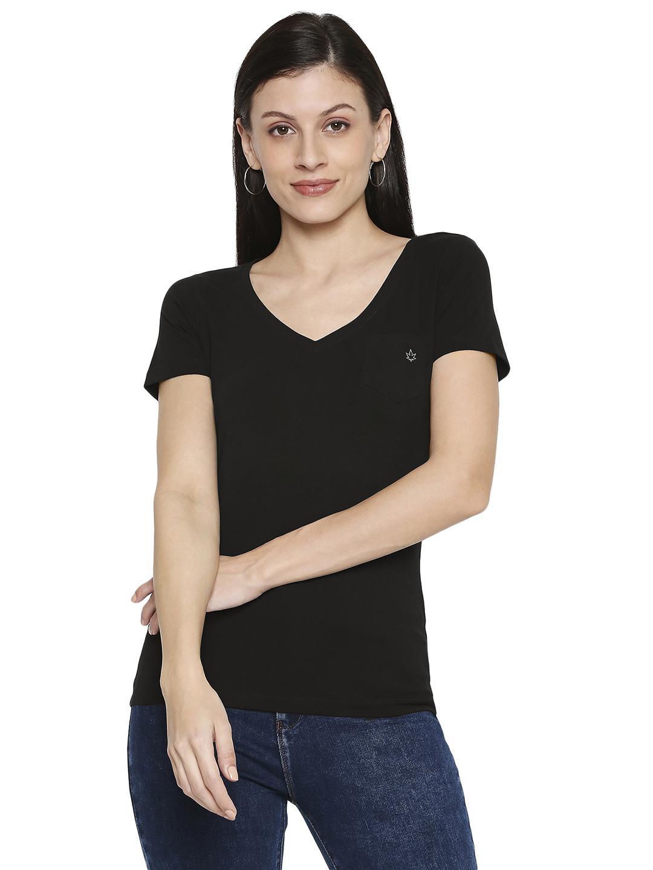 Spykar   spykar Cotton Black T-Shirt