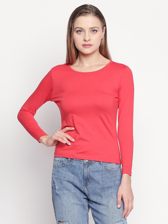 Spykar | spykar Coral Solid Slim Fit T-Shirt