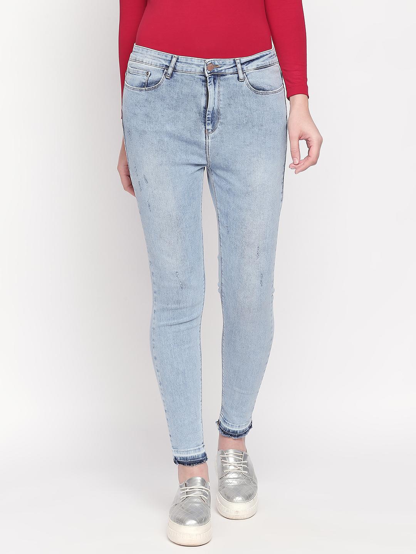Spykar | Spykar Blue Solid Slim Fit Jeans