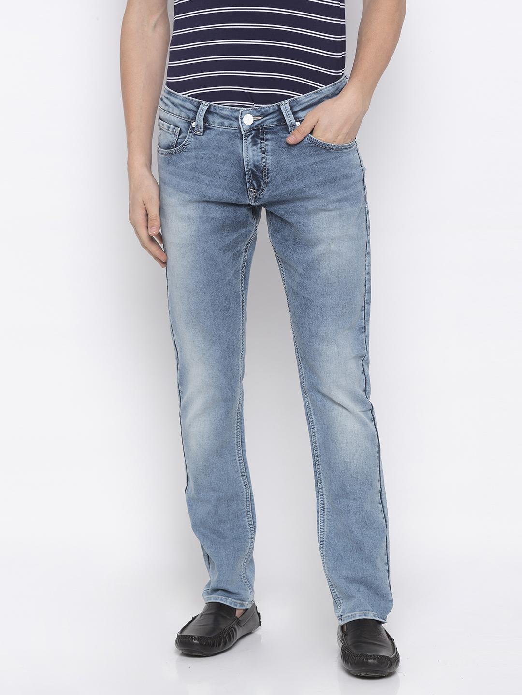 Spykar | Spykar LT.BLUE Cotton Men Jeans