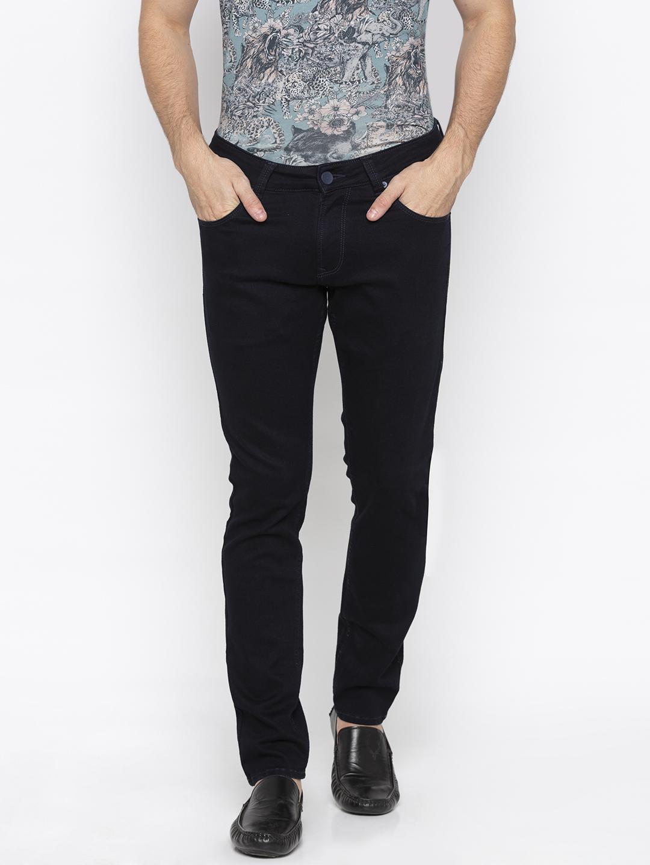 Spykar   Spykar Navy Solid Super Skinny Fit Jeans