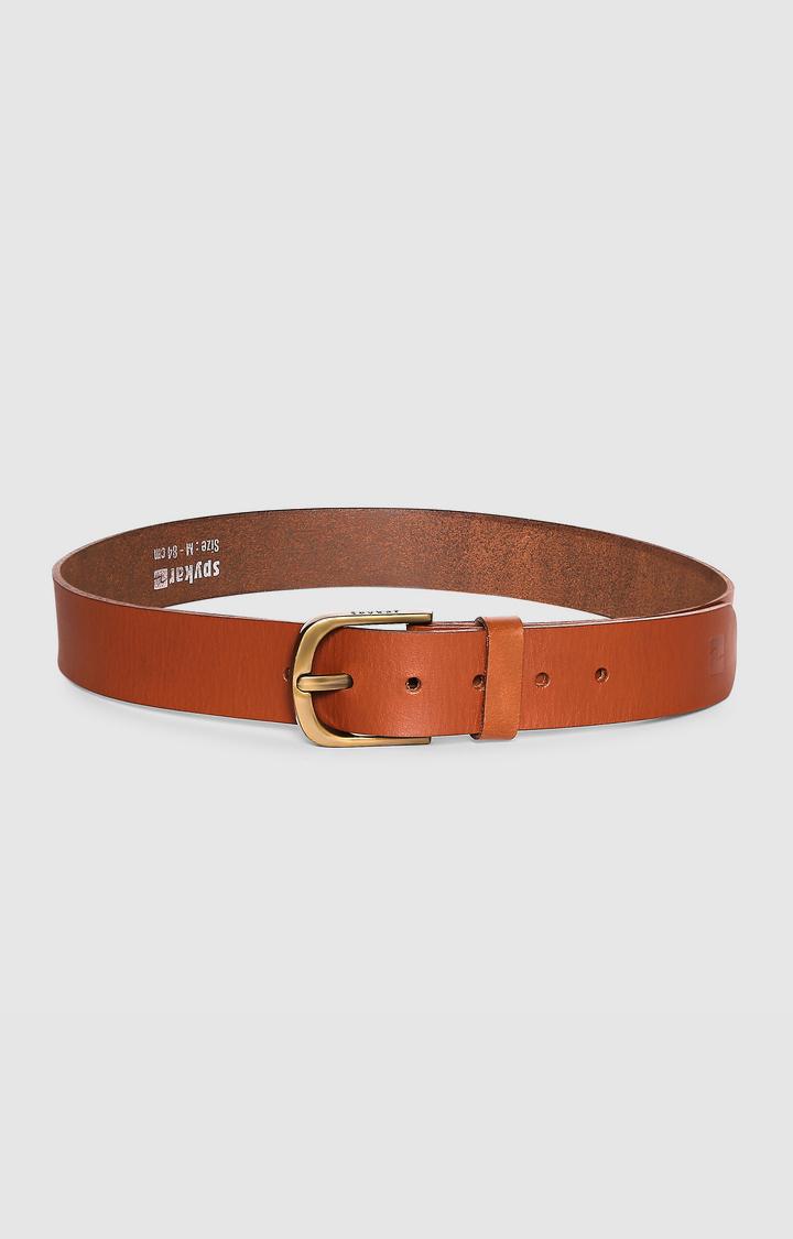 Spykar   SPYKAR TAN Genuine Leather BELT