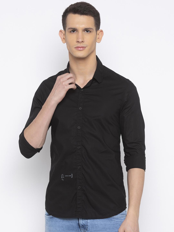 Spykar   spykar Black Solid Casual Shirt