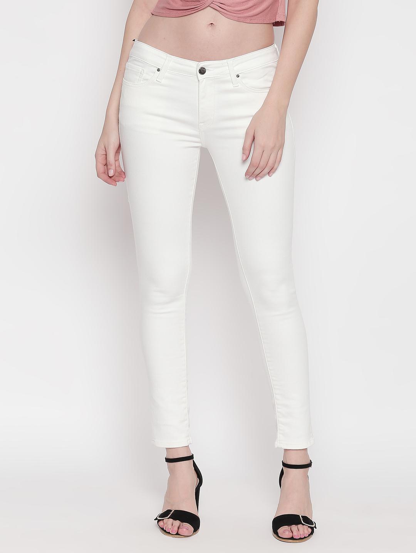 Spykar | Spykar White Solid Super Skinny Fit Jeans