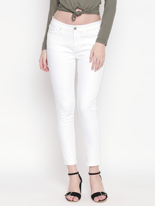 Spykar | Spykar White Solid Skinny Fit Jeans