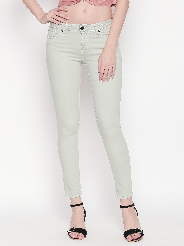 Spykar | Spykar Mint Solid Super Skinny Ankle Length Fit Jeans