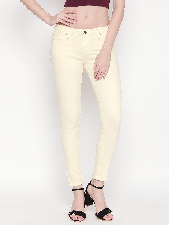 Spykar | Spykar PALE YELLOW Cotton Women Jeans