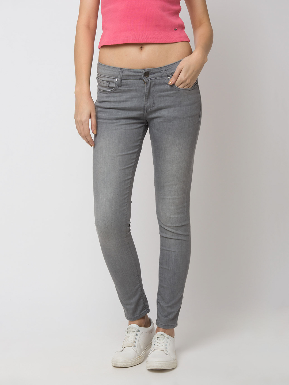 Spykar | Spykar Grey Cotton Jeans