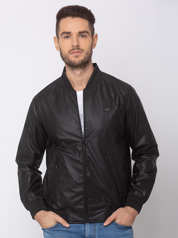 Spykar | spykar Black Polyester Straight Fit Jacket