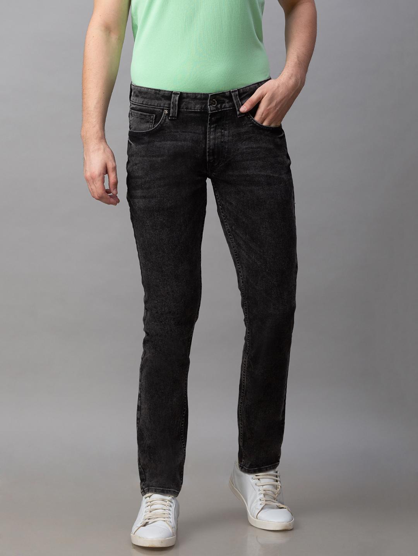 Spykar | Spykar Black Cotton Low Rise Slim Fit Narrow Leg Regular Length Jeans (Skinny)