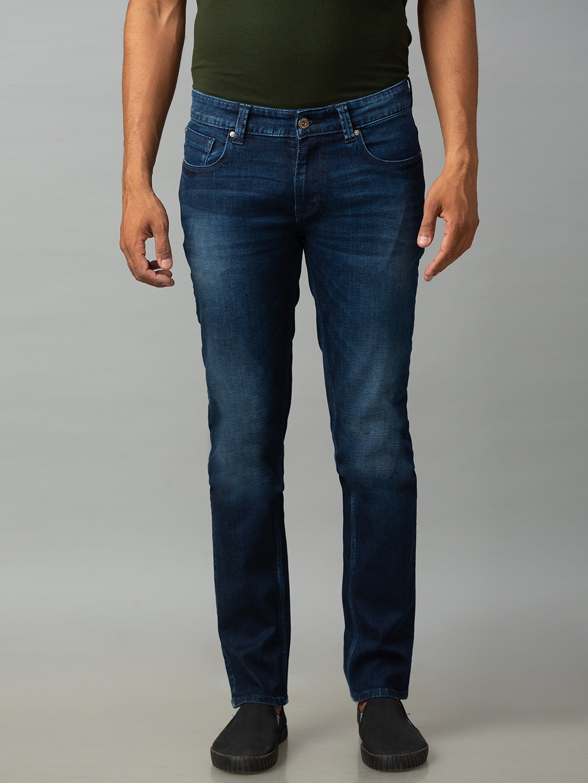 Spykar | Spykar Blue Cotton Low Rise Slim Fit Narrow Leg Regular Length Jeans (Skinny)