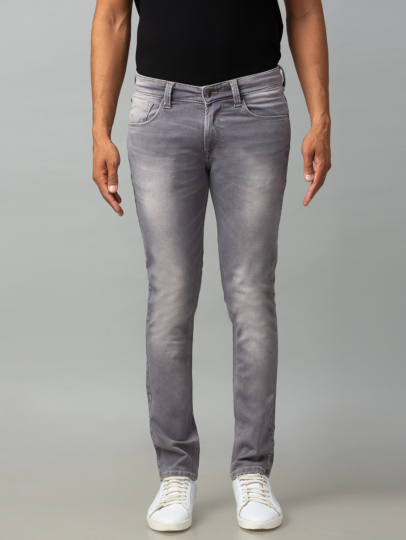 Spykar | Spykar Grey Cotton Low Rise Slim Fit Narrow Leg Regular Length Jeans (Skinny)