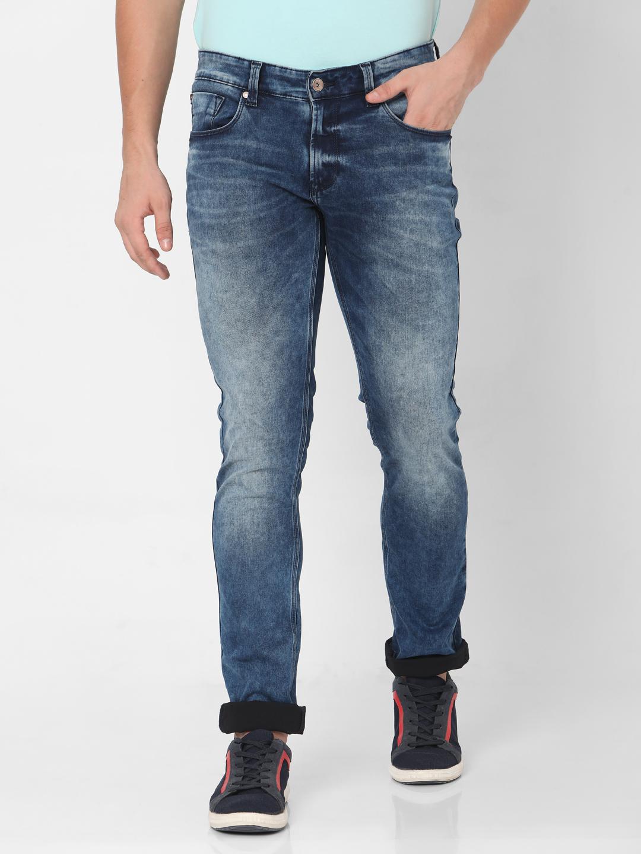 Spykar | Spykar Blue Cotton Jeans