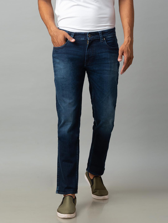 Spykar | Spykar Blue Cotton Low Rise Regular Fit Jeans (Rover)