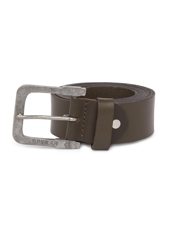 Spykar | Spykar Olive Leather Belts
