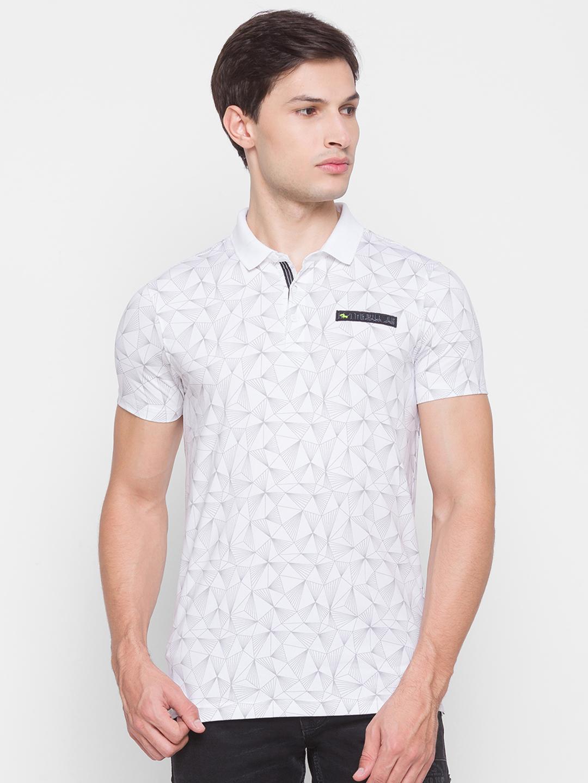 Spykar   Spykar White Cotton Men T-shirt