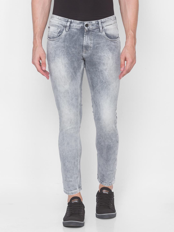 Spykar | Spykar Grey Cotton Men Jeans (KANO)