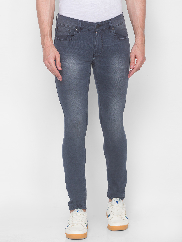 Spykar   Spykar DK.GREY Cotton Jeans