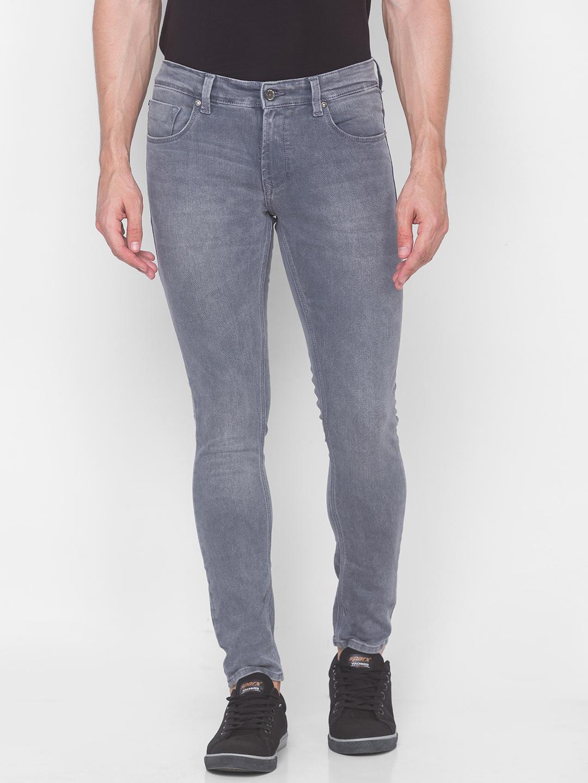 Spykar   Spykar Grey Cotton Men Jeans (SUPER SKINNY)