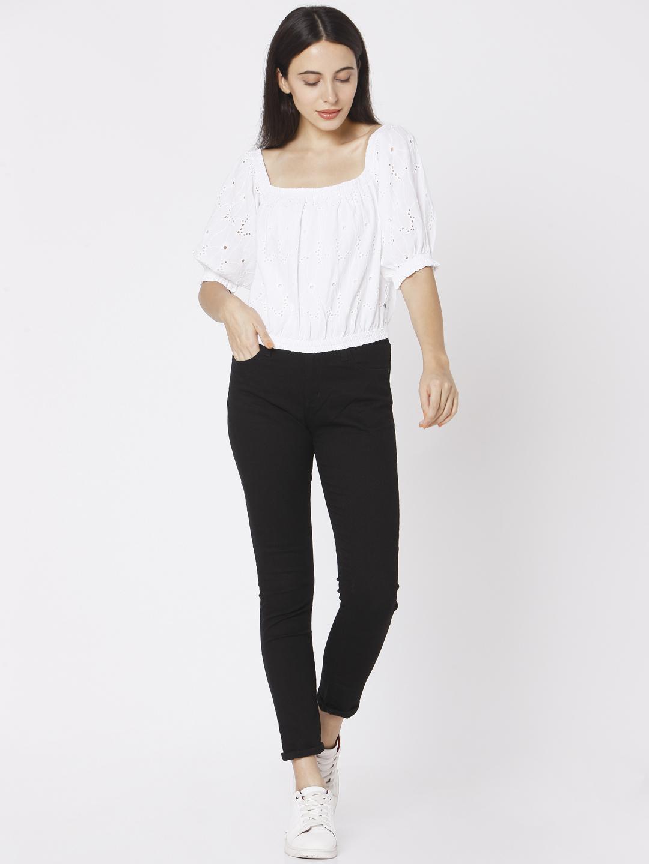 Spykar   Spykar White Cotton Women Shirt